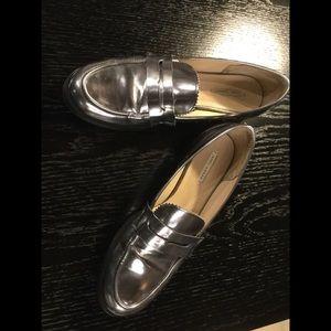 Zara Silver Metallic Loafer